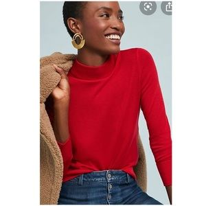 Anthropologie Audrey Mock Neck Knit Pullover New
